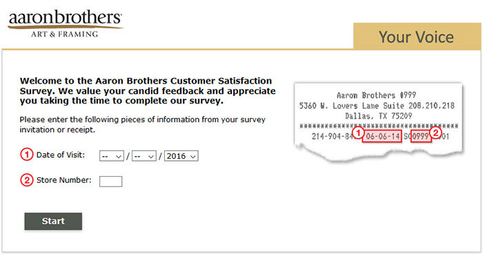Aaron-Brothers-Online-Survey-Image