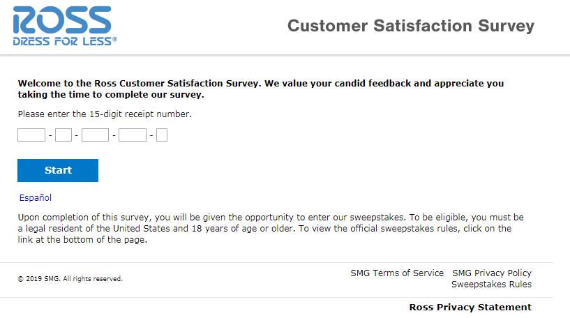 Ross Customer Satisfaction Survey Image