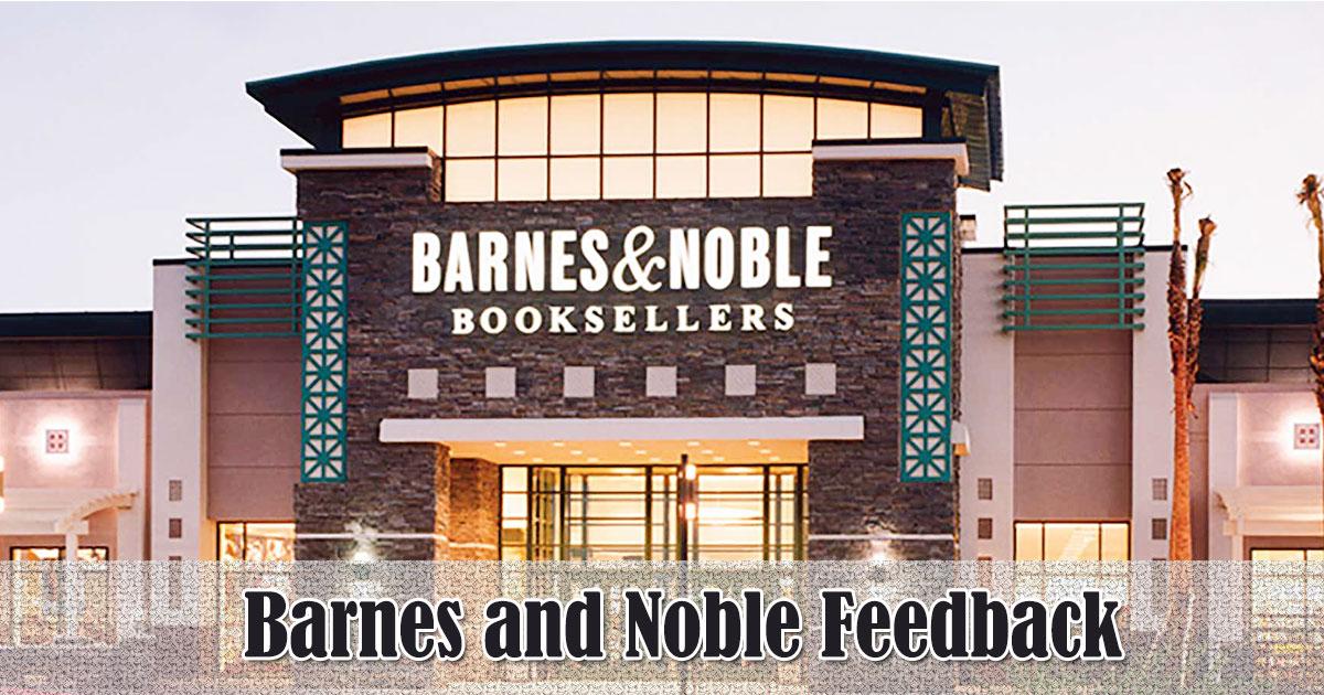 Barnes and Noble Feedback image