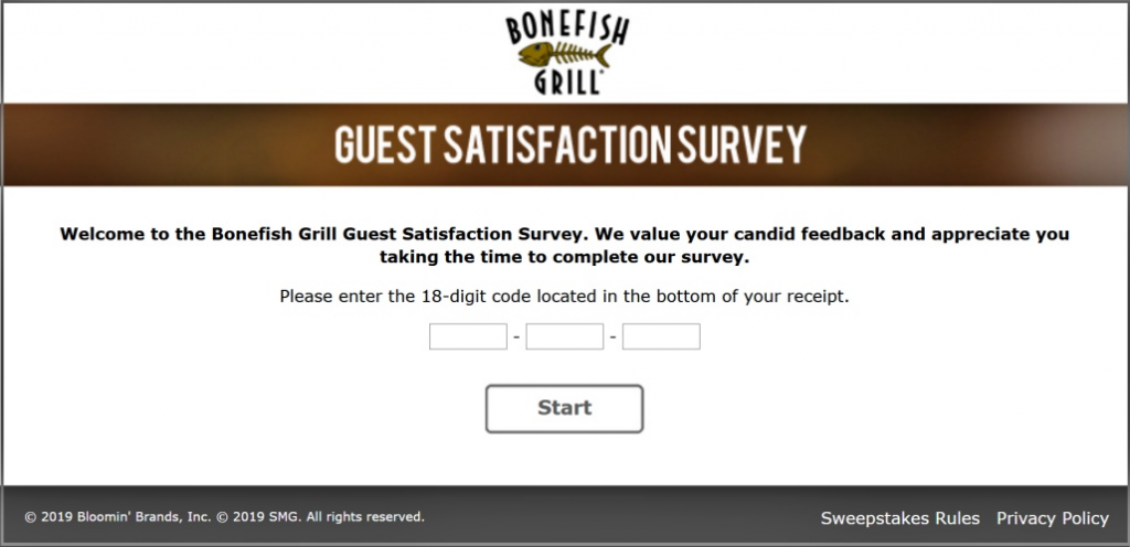 Bonefish Grill Customer Satisfaction Survey