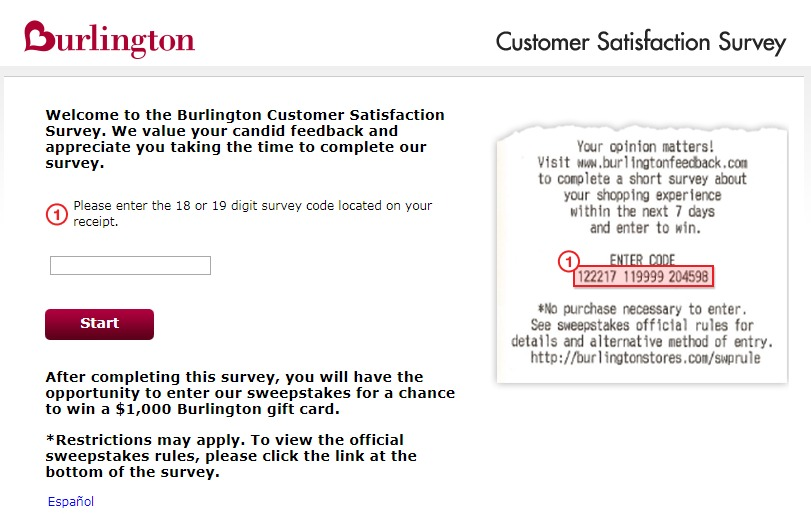 Burlington Customer Satisfaction Survey