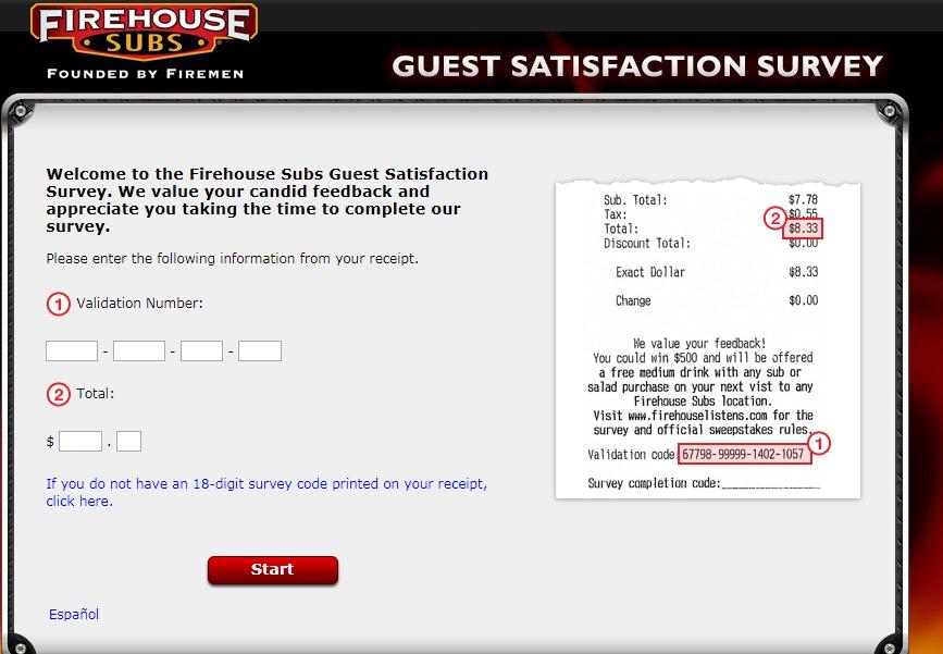 Firehouse Subs Customer Satisfaction Survey