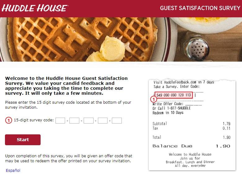 Huddle House Customer Satisfaction Survey