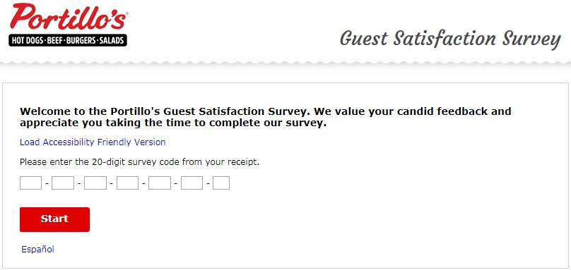 Portillos Customer Satisfaction Survey