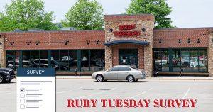 Ruby Tuesday Feedback Survey image