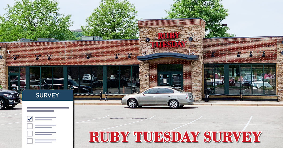 Ruby Tuesday Feedback Survey Image