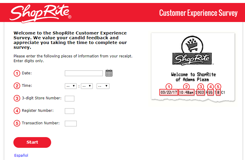 ShopRite Customer Experience Survey