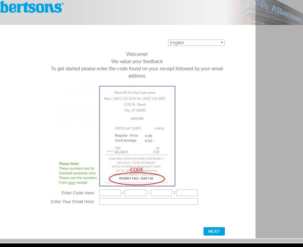 albertsons online survey image