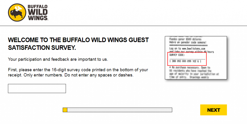 buffalo wild wings satisfaction survey