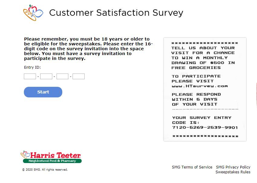 harris teeter customer satisfaction survey