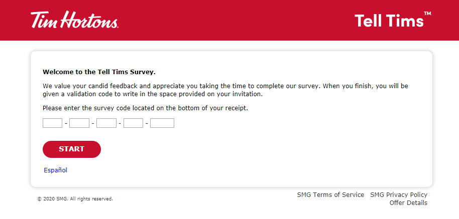 tims guest survey