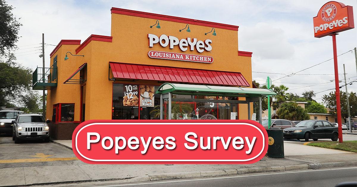 Popeyes Survey Image