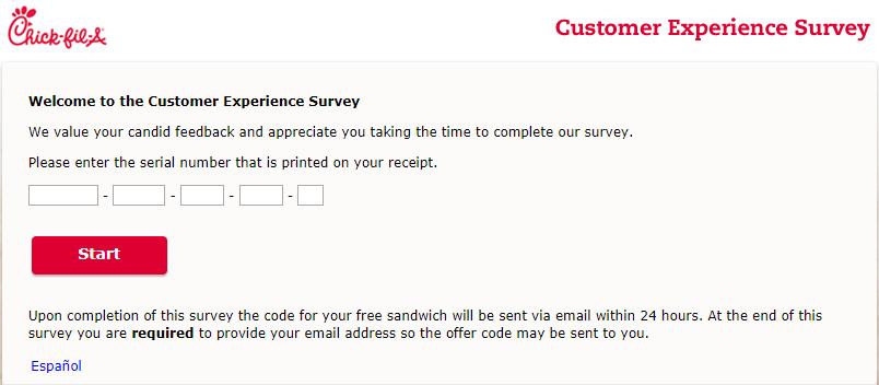 chick fil a customer satisfaction survey image