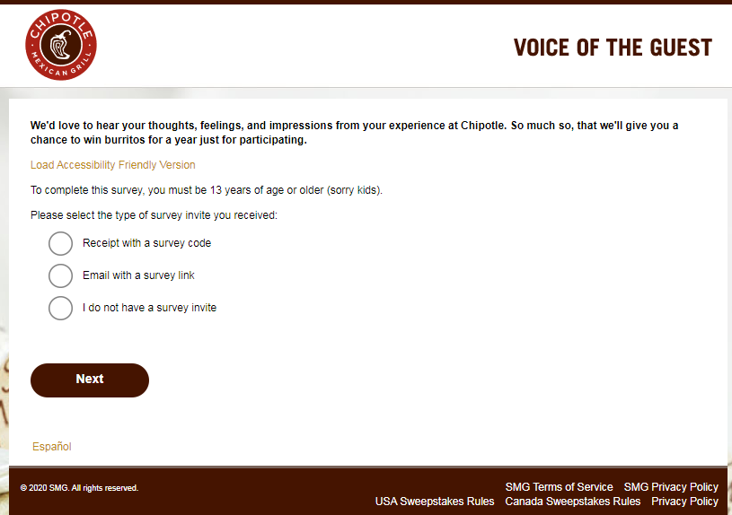chipotle customer satisfaction survey image