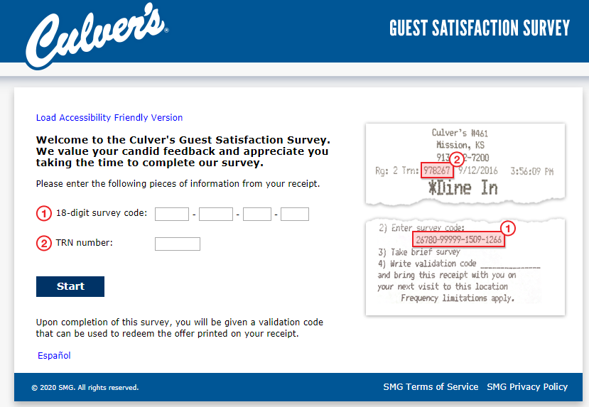 culvers customer satisfaction survey image