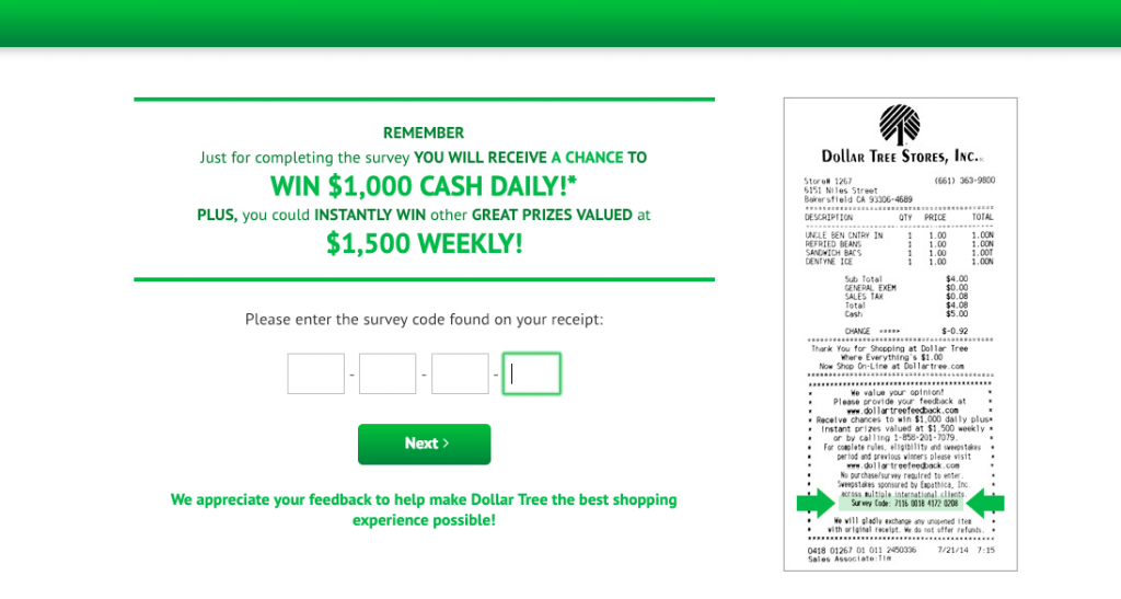 dollar tree customer satisfaction survey images