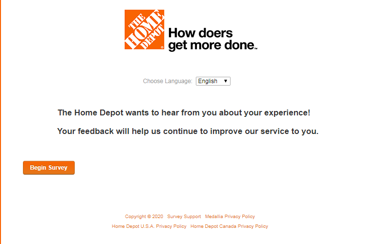 home depot customer satisfaction survey image