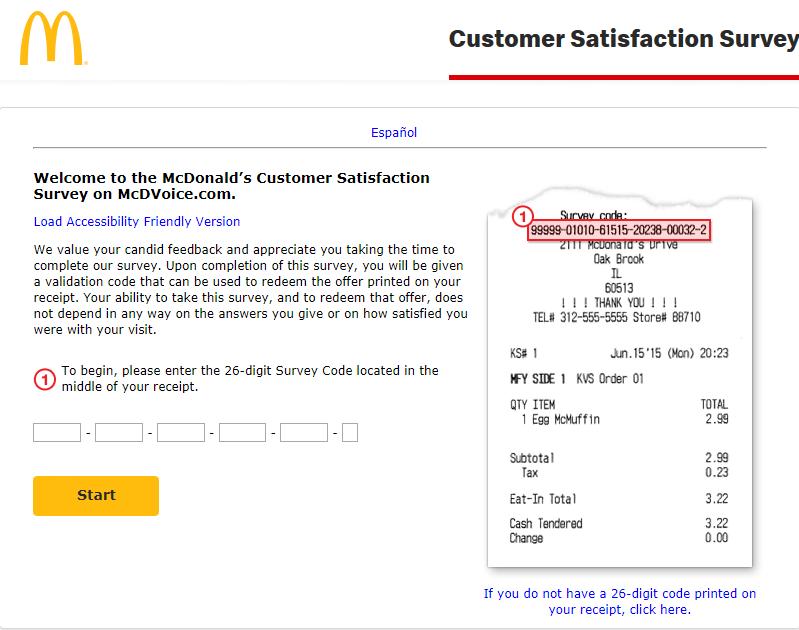 mcdonald's customer survey image