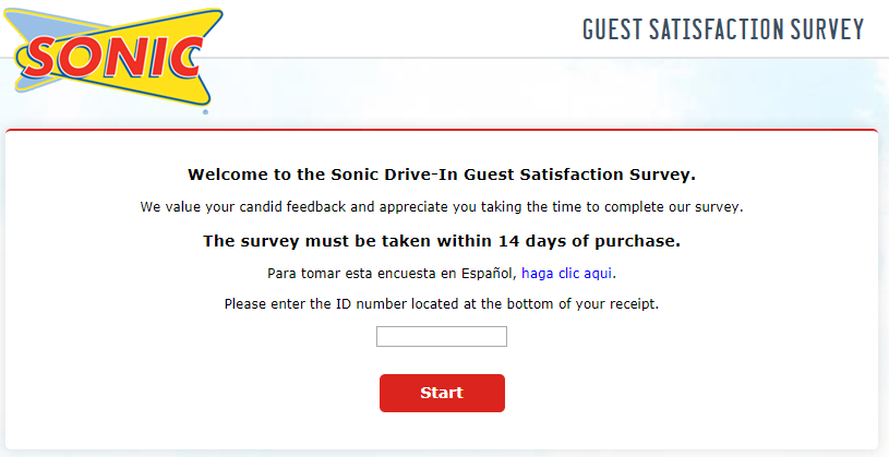 sonic customer satisfaction survey image