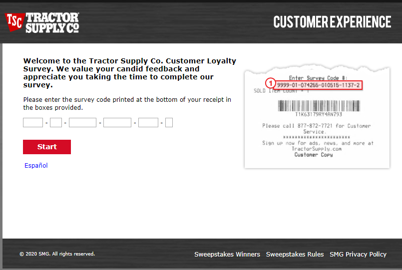 tractor supply online survey Image