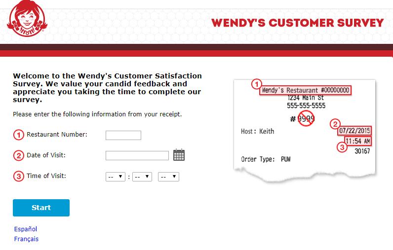 wendy's customer satisfaction survey image