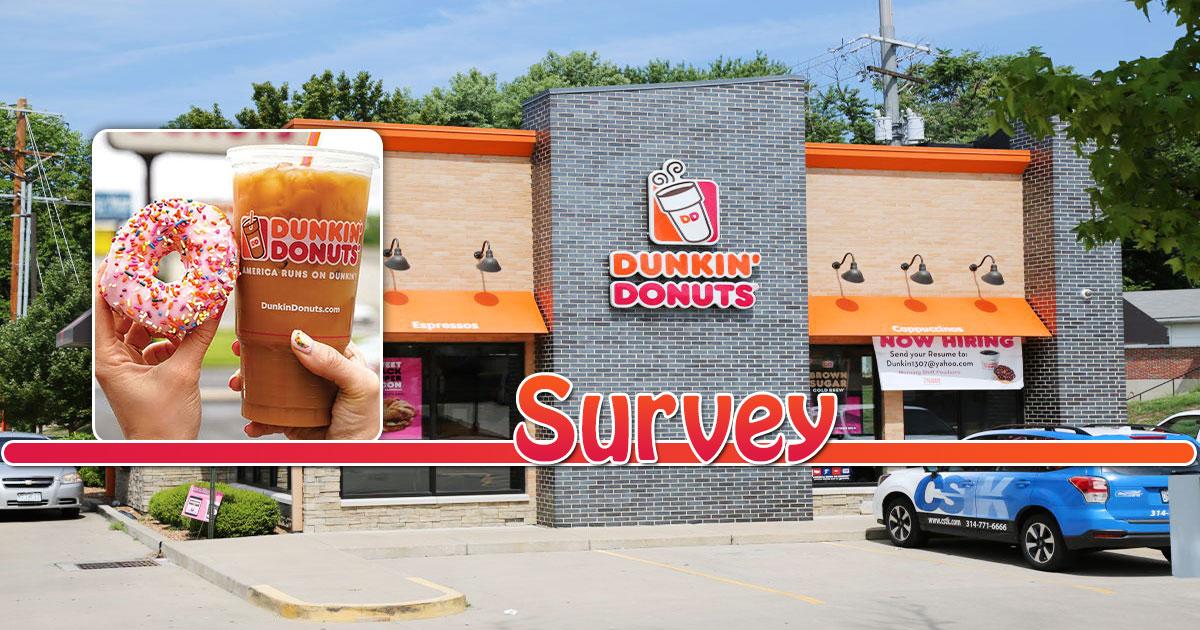 Dunkin Donuts Survey Image