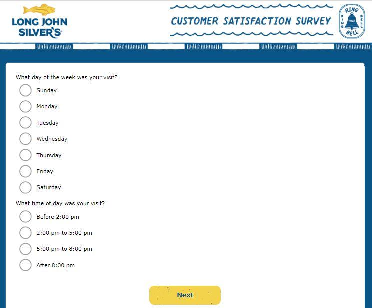long john silver's experience survey image